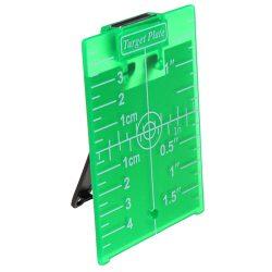 Mágneses céltábla - zöld, támasztó lábbal. 10.5 cm x 7.4 cm