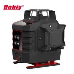 Dobiy L360-4D-GA - 16 vonalas, 4D (4x360°) zöld lézer szintező LCD kijelzővel
