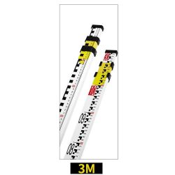 Level ruler 3m - 3 Sections Telescopic with Bubble Level