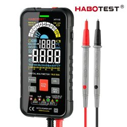 Habotest HT116 - Intelligent Portable Multimeter: VA Color Big Display Screen, 9999 Counts, 1000V 10A, with many features.