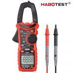 Habotest 206B -  Digital Multimeter Clamp Meter: 600 V, 6000 Counts, True RMS, DC/AC Current, 600V, NCV etc.