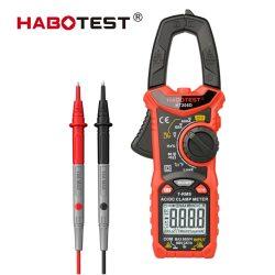 Habotest 206D -  Digital Multimeter Clamp Meter: 600 V, 6000 Counts, True RMS, DC/AC Current, 600V, NCV etc.
