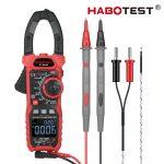 Habotest 208D -  Digital Multimeter Clamp Meter: 6000 Counts, True RMS, DC/AC Current, DC/AC Voltage, 1000 V, NCV etc.