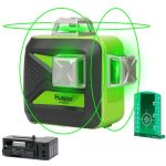 Huepar 603CG - 12 vonalas, 3D (3x360°) zöld szintező lézer (OSRAM lézer)