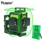 Huepar 903CG - 12 lines, 3D (3x360°) Green Laser Level, Li-ion Battery, Osram laser