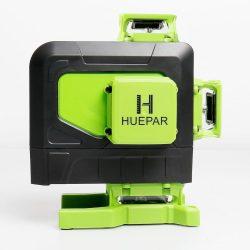 Huepar 904DG - 4D, 16 vonal (4x360°), zöld szintező lézer, távirányító, kültéri mód