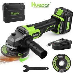 Huepar AG10BL-1200 - angle grinder: brushless,  115 mm, 20 V, 5 Ah battery