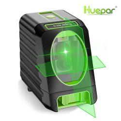 Huepar BOX-1G - zöld keresztvonalas lézer szintező kültéri móddal (OSRAM lézer)