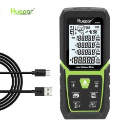 Huepar LM100A távolságmérő - 100m, kalibrálható, sok funkció (szögmérő, festő mód stb),  akkumulátor