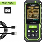 Huepar LM90C lézeres távolságmérő – 90m, célkamera, 3D (két tetszőleges pont közti) mérés, bluetooth, stb.
