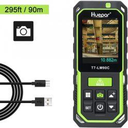 Huepar LM200C Laser Distance Meter – 90m,  with Camera 2X/4X Zoom, 3D Measurement. 17 Measurement Modes, Bluetooth