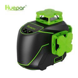 Huepar S03CG-L - 12 lines, 3D (3x360°) green beam laser level