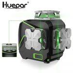 Huepar S03CG - 12 lines, 3D (3x360°)  Green Beam Laser Level with Bluetooth, LCD display