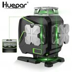 Huepar S04CG - 16 lines, 4D (4x360°) Green Beam Laser Level with Bluetooth, LCD display