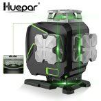 Huepar S04CG - 16 vonalas, 4D (4x360°) zöld lézer szintező Bluetooth-tal, LCD kijelzővel