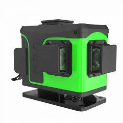 KIRA TD1601B-G12 - 12 vonalas, 3D (3x360°) zöld lézer szintező: alsó vízszintes lézer, távirányító, kültéri mód, Osram lézer