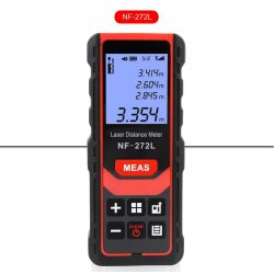 Noyafa NF-272L - Laser Distance Meter: 80 m, digital angle meter, Pythagorean measurement, automatic vertical