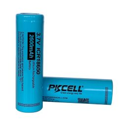 PKCELL ICR18650 akkumulátor - 2600 mAh, 5A, nem védett, lapos